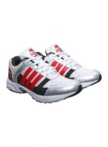 Port Hactor White Red Strips Life Style Sports Shoe