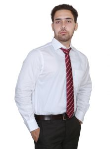 Iq Pure Cotton White Shirt For Men Inq1449_4