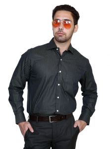 Iq Pure Cotton Black Shirt For Men Iqncof_3
