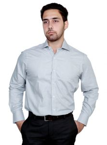 Iq Pure Cotton Grey Shirt For Men Iqnlgy_3