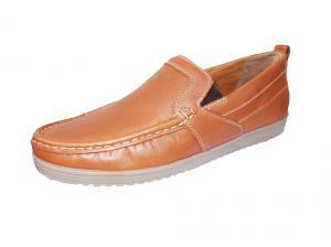 Port Lt-1 Mens Brown Leather Loafer Shoes