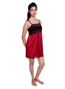 Vipul,Port,Tng Women's Clothing - Port Red Nightwear for women p016_3