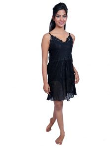 Port Black Nightwear For Women P020_3