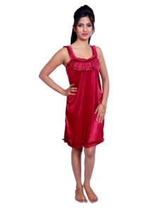 Port Red Nightwear For Women P022_3