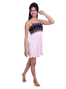Triveni,Platinum,Port,Kiara Women's Clothing - Port Pink Nightwear for women p024_3