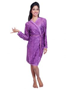 Port Purple Nightwear For Women P027_3