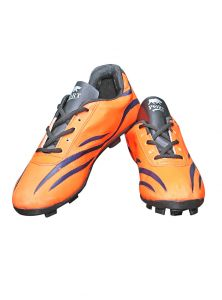 Port Spectra Orange Black Trible Football Shoes