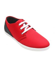 Port Red Black Casual Shoes