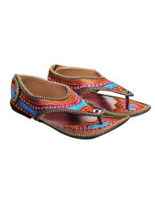 Port Rangeeli Hand Worked Rajasthani Traditional Footwear For Womens Rangeel