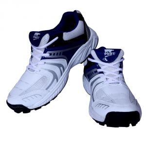 Port Razzer White Cricket Sports Shoes