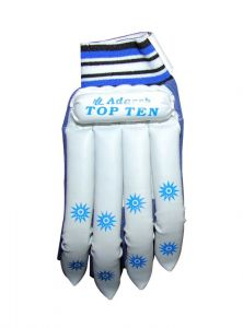 Cricket Gloves, Helmets - Adarsh White Colour Gloves