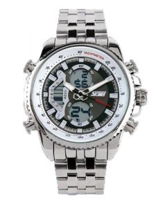 Skmei Imported Trendy Casual Analog & Digital Stainless Steel Quartz 3 Atm Nwa05s050c0