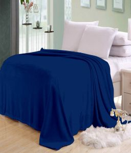 Blankets,quilts & comforters - Sai Arpan's Blue Solid Plain Double Bed AC Blanket