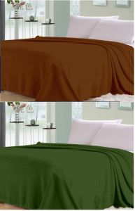 Quilts, Mattresses - Sai Arpan Plain Double Bed AC Blanket Buy 1 Get 1 Free_Brown-Green
