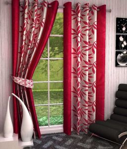 Curtains - Sai Arpan's Pink Premium Kolaveri Door Curtains- Set of 2