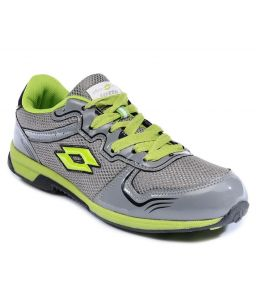 Lotto Sport Shoes (Men's) - Lotto Sport Green And Grey Running Shoes And Lotto Black Aviator