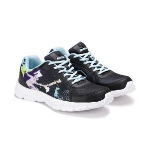 Lotto Sport Shoes (Men's) - Lotto Mens Portlane Subli Black & Sky Blue Running Sport Shoes AR4784-040