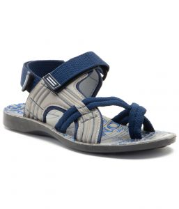 Floaters (Men's) - Provogue Stylish & Attractive Grey And Blue Floater Sandals