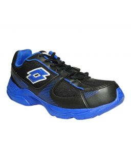 Lotto Mens Pounce Black & Royal Blue Running Shoes