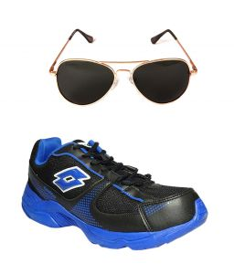 Lotto Sport Shoes (Men's) - Lotto Sport Blue And Black Running Shoes And Lotto Black Aviator