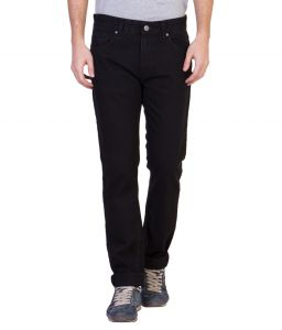 Ruf N Tuf Men's Wear - Ruf & Tuf Stylish Party Casual Black Denim Jeans