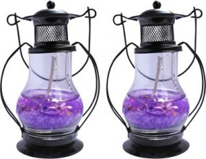Zarsa Black Gel Lantern Candle(pack Of 2)