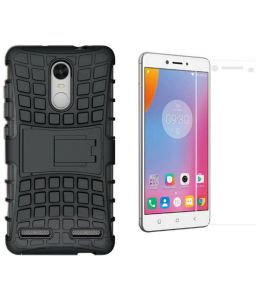 Carry cases and pouches for mobile - PRODUCTMINE Defender Back Cover Case with Kickstand for Lenovo Vibe K5 Plus (Black)