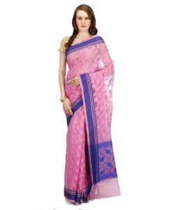 Banarasi Silk Works Party Wear Designer Dark Pink Colour Saree For Women