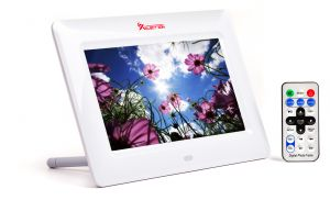 Digital Photo Frames - XElectron 7 inch Digital Photo Frame with Remote (White)