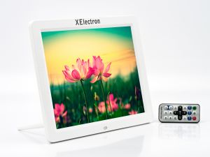 XElectron 12 Inch HD Ready Digital Photo Frame With Remote (White)
