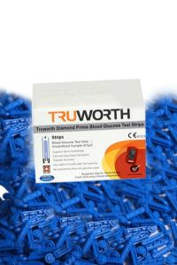 Truworth Diamond Prima Red Test Strips Combo 50 + 50 Free Lancets
