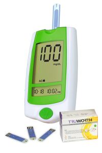 Truworth G-30 Glucometer French Green + 50 Strips