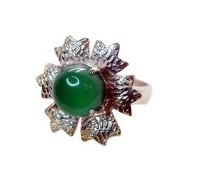 Riyo Gemstone Alloy Silver Etched Ring Aspr80-0039