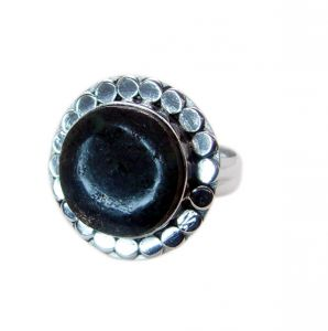 Riyo Gemstone Alloy Silver Exciting Ring Aspr80-0042