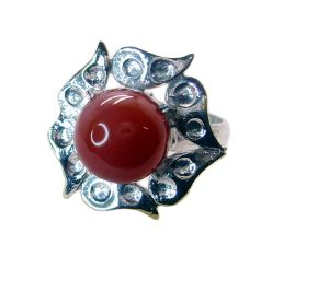 Riyo Gemstone Alloy Silver Exquisite Ring Aspr80-0045