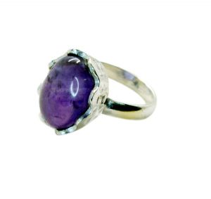Riyo Gemstone Alloy Silver Handcrafted Ring Aspr85-0063