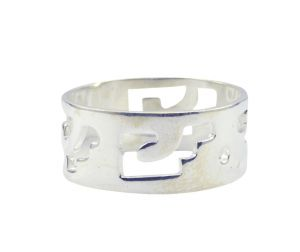 Riyo A Plain Alloy Silver Innovative Ring Aspr90-0077