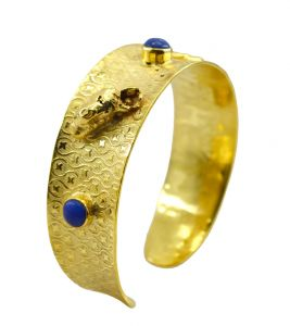 Riyo Gemstone 18kt Gold Plated Long Lasting Bangle Width 0.75inches (product Code - Gpbmul -52013)
