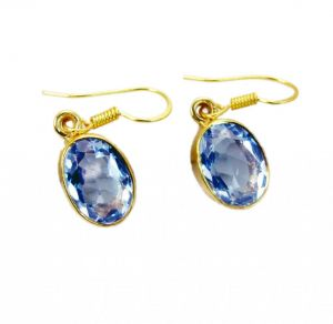 Riyo Alexandrite Cz Fine Gold Plated Party Wear Earring L 1.5in Gpealcz-86004)