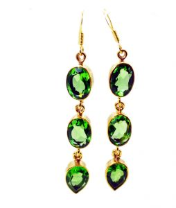 Riyo Peridot Cz Fine Gold Plated Party Wear Earring L 3in Gpepecz-100001)