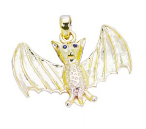 Riyo A Plain 18kt Gold Plated Bat Pendant L 2in Gppbat-130002)