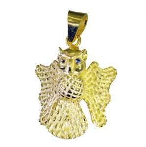 Riyo A Plain 18kt Gold Plated Owl Pendant L 2in Gppbat-130005)
