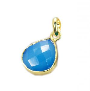 Riyo Blue Chalcedony 18ct Ygold Plate Casual Pendant L 1.5in Gppbch-8016)