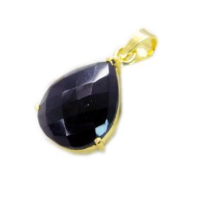 Riyo Black Onyx Gold Plated Jewellery Antique Pendant L 1.5in Gppbon-6047)