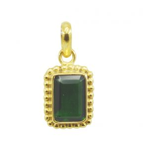 Riyo Green Emerald Cz 18kt Gold Plated Stylish Pendant L 1.25in Gppemcz-96038)
