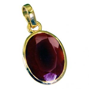 Riyo Red Onyx Jewellery Gold Plated Modern Pendant L 1.2in Gppron-66009)
