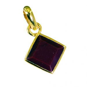 Riyo Ruby Cz Indian Gold Plate Cluster Pendants L 1in Gpprucz-104002)