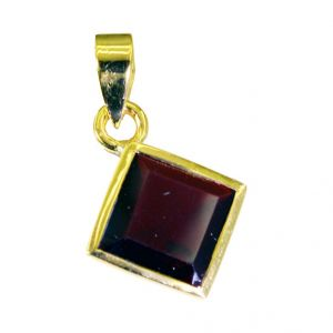 Riyo Ruby Cz Jewelry Gold Plated Belle Pendants L 1in Gpprucz-104003)