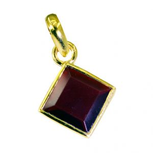 Riyo Ruby Cz Wholesale Gold Plate Alligator Pendants L 1in Gpprucz-104005)