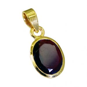 Riyo Ruby Cz Gold Plated Online Baby Pendants L 1in Gpprucz-104011)